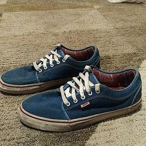 VANS Blue Skateboarding Shoes 11.5